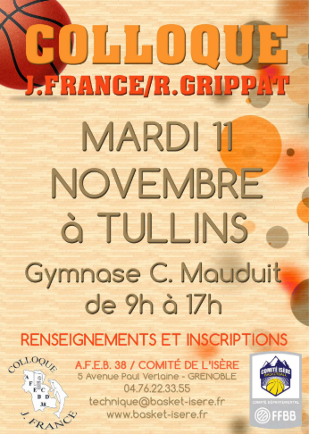 Affiche Colloque Isere Basket 11112014