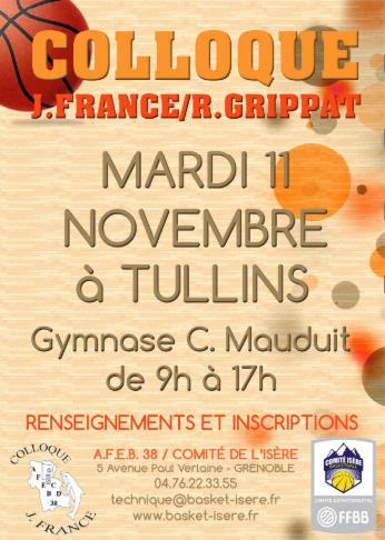 Affiche Colloque Isere Basket 11112014